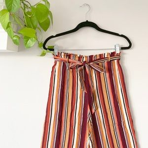 Forever 21 striped culottes